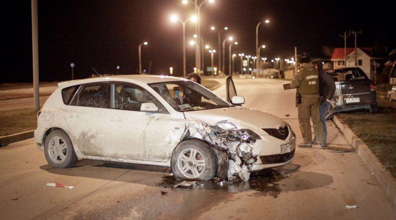 Derrame de combustible tras colisión en avenida Costanera