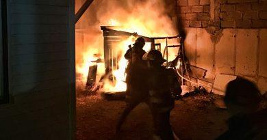 Fuego destruyó bodega en la población Archipiélago de Chiloé
