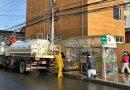 Municipio finalizó limpieza de los paraderos del sector centro