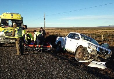 Dos lesionados tras despiste en la Ruta 9 Norte