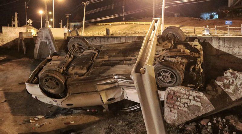 El alcohol nuevamente presente: Violento accidente en Costanera 21 de Mayo