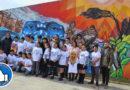 Estudiantes plasmaron en mural a todo color la historia de Magallanes