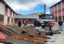 Rachas de viento arrancaron parte de la techumbre del Liceo Industrial