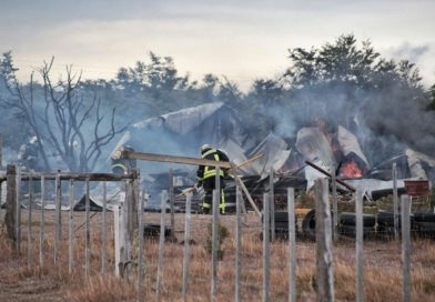 Una persona herida tras incendio en el sector Calafate