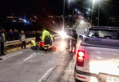 Una persona resultó herida tras ser atropellada en terraplén de Eusebio Lillo
