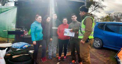 Carabineros reforzó campaña entre parrilleros del Parque Chabunco