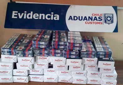En Natales y San Sebastián Aduanas detectó contrabando de cigarrillos