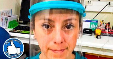 Ingeniosos magallánicos imprimen en 3D máscaras protectoras contra el Coronavirus