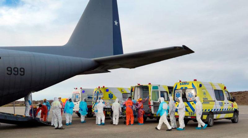 86 pacientes Covid han sido trasladados desde Magallanes: 15 se han recuperado y 14 han fallecido